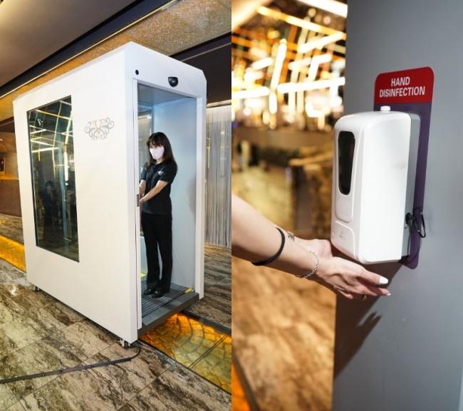 日本初導入!通り抜けるだけで全身を除菌!クリーンゲートシステムをV2 TOKYOに設置!