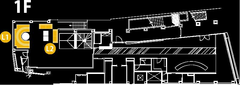 V2 TOKYO Floor Map 1F