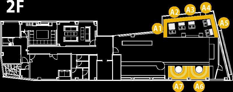 V2 TOKYO Floor Map 2F