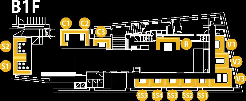 V2 TOKYO Floor Map B1